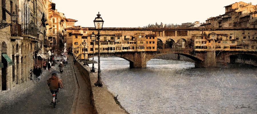 Italy Photograph - Along The Arno by Joe Bonita