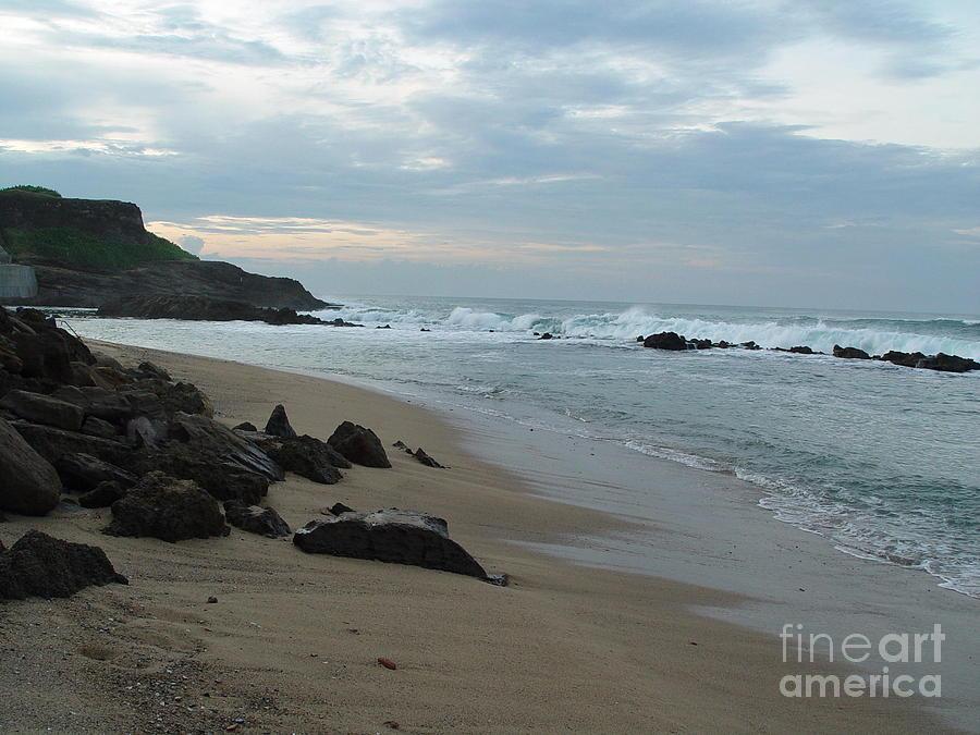 Beach Photograph - Along The Beach Puerto Rico by Patty Vicknair