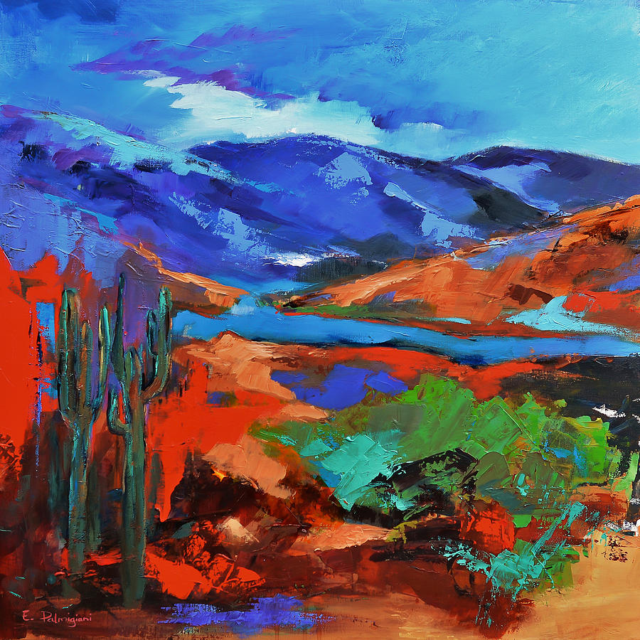 Along The Trail Arizona Painting By Elise Palmigiani