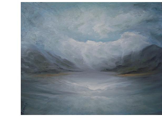 Altus Painting - Altus Lake Oklahoma by Eileen Anderson