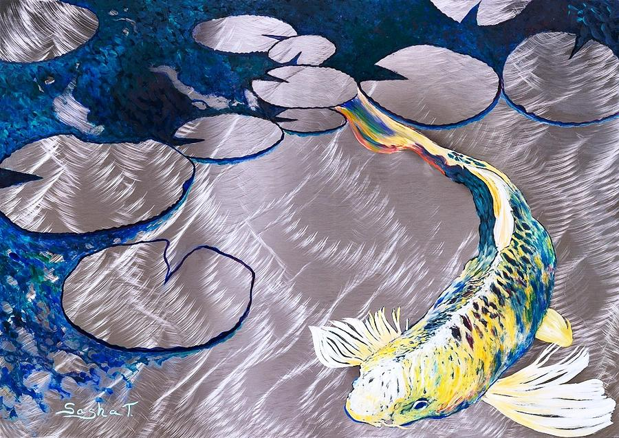 Image gallery koi fish art prints for Koi fish paintings prints