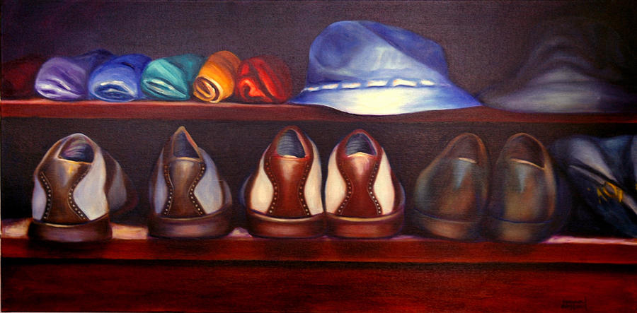 Golf Painting - Always Options by Shannon Grissom