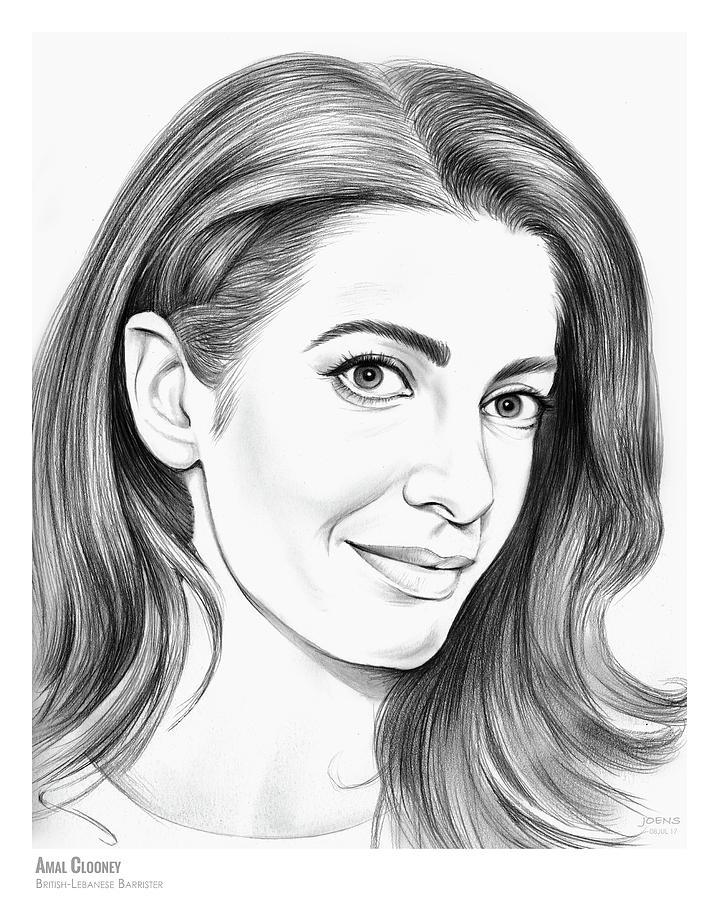 Amal Clooney Drawing