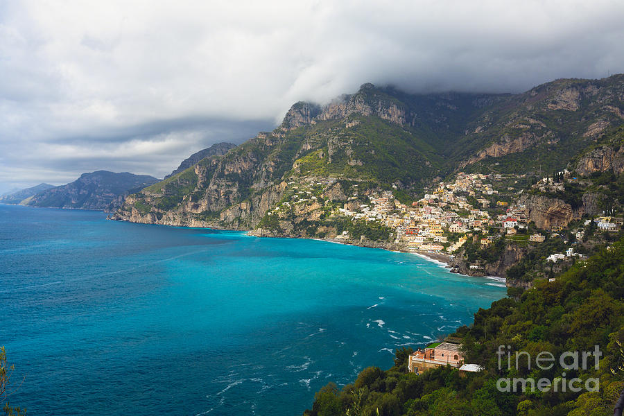 Unesco World Heritage Site Photograph - Amalfi Coast Scenic Vista At Positano by George Oze