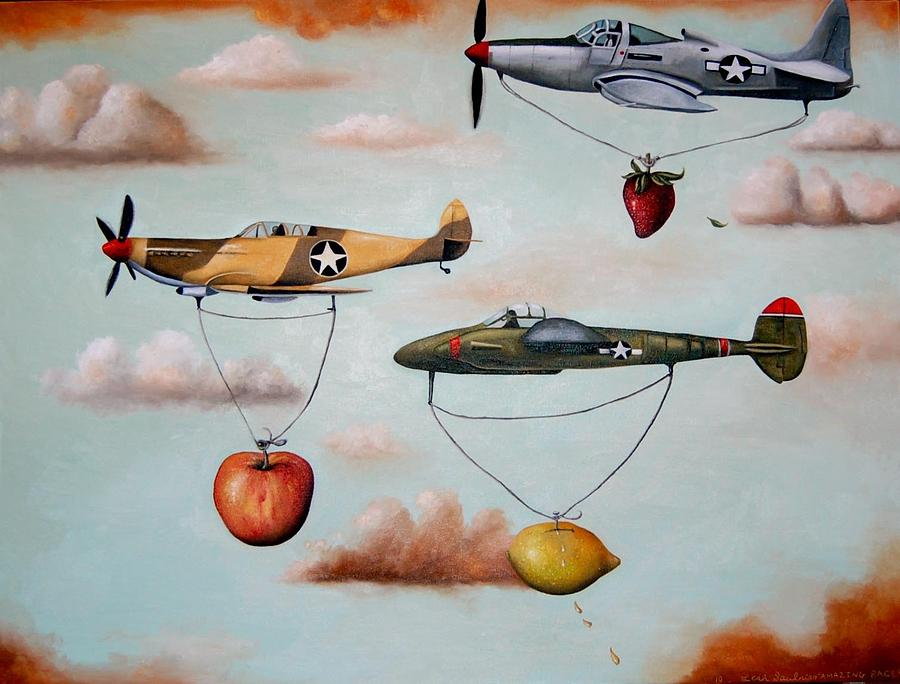 Planes Painting - Amazing Race 2 by Leah Saulnier The Painting Maniac