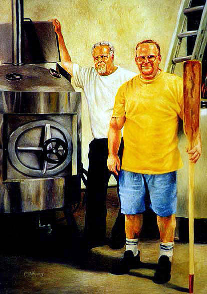 American Brewer Gothic Painting