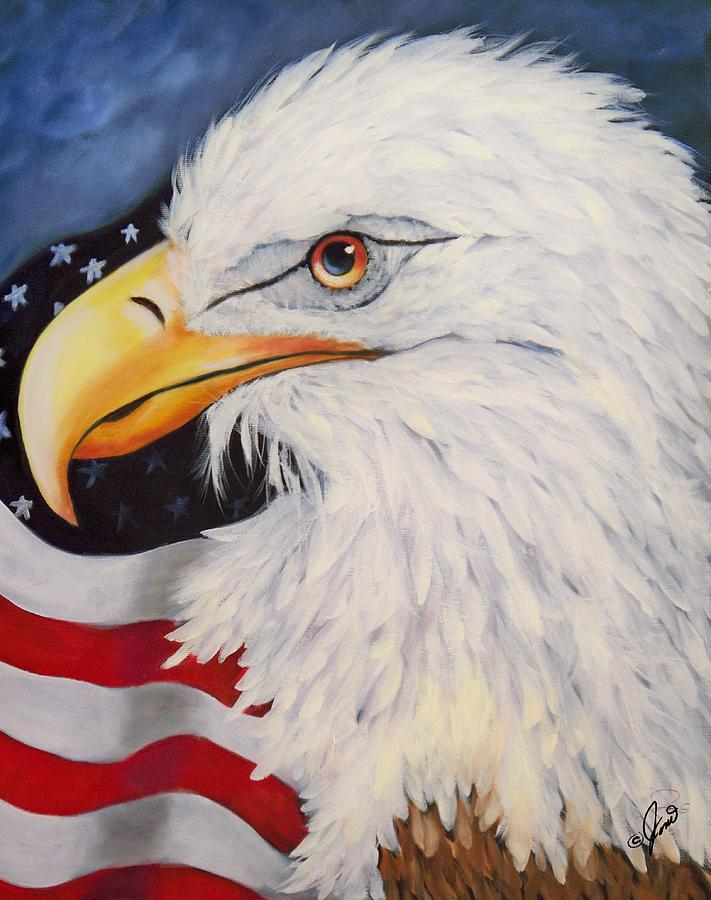 America Painting - American Eagle by Joni McPherson