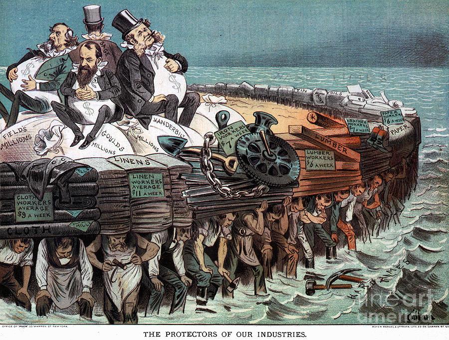 1883 Photograph - American Financiers, 1883 by Granger