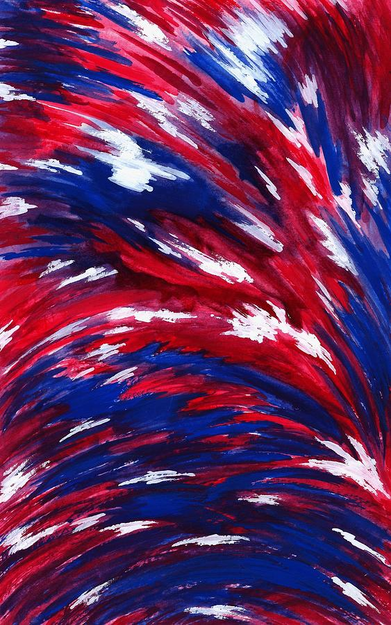 Red Painting - American Flag by Michael Vigliotti