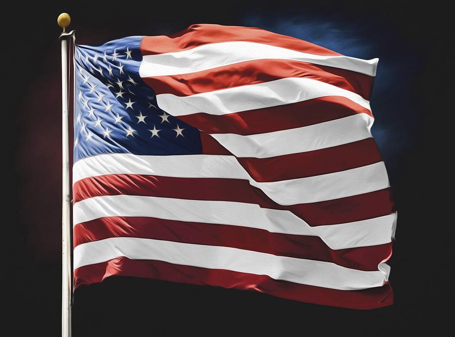american flag wall art photograph by steven michael