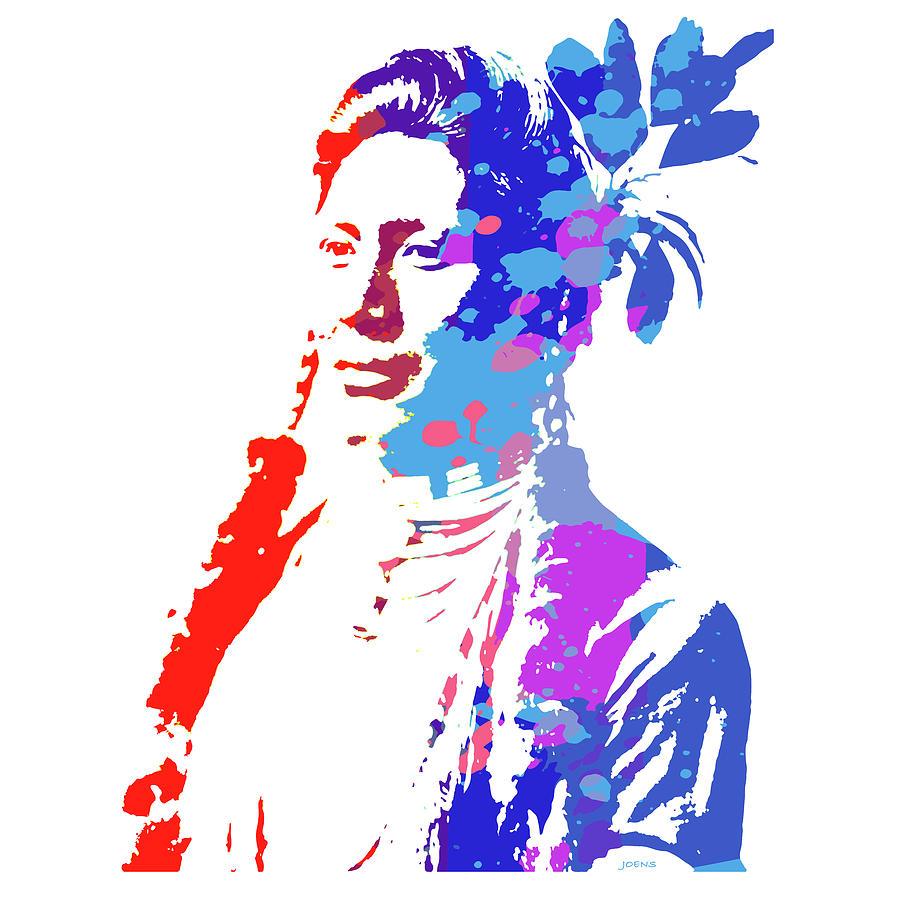 American Indian Woman Digital Art
