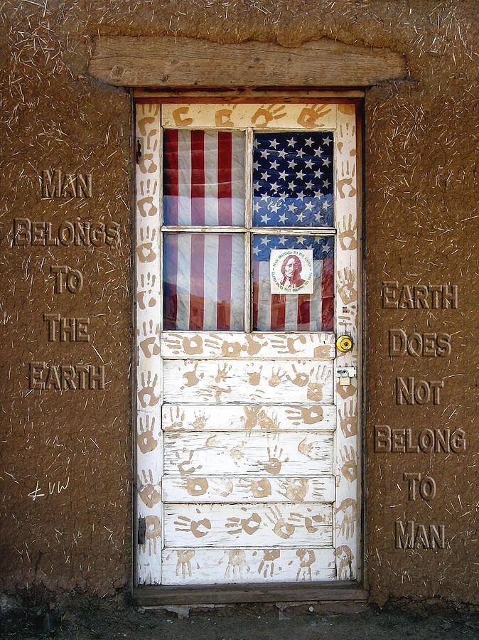 Door Photograph - American Native Finger Prints by Kurt Van Wagner