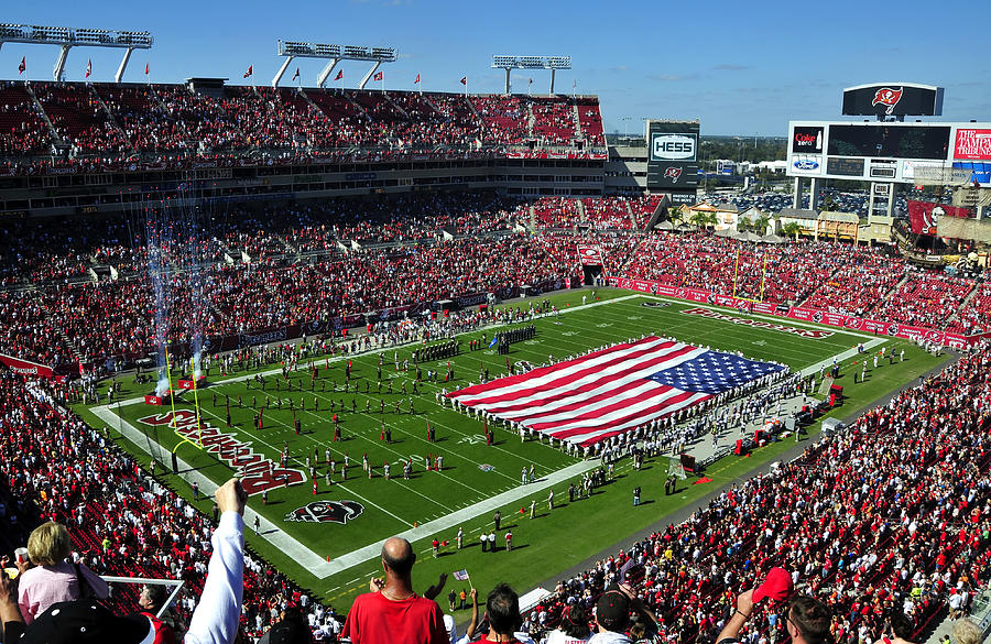 Fine Art Photography Photograph - American Pride Bucs Style by David Lee Thompson