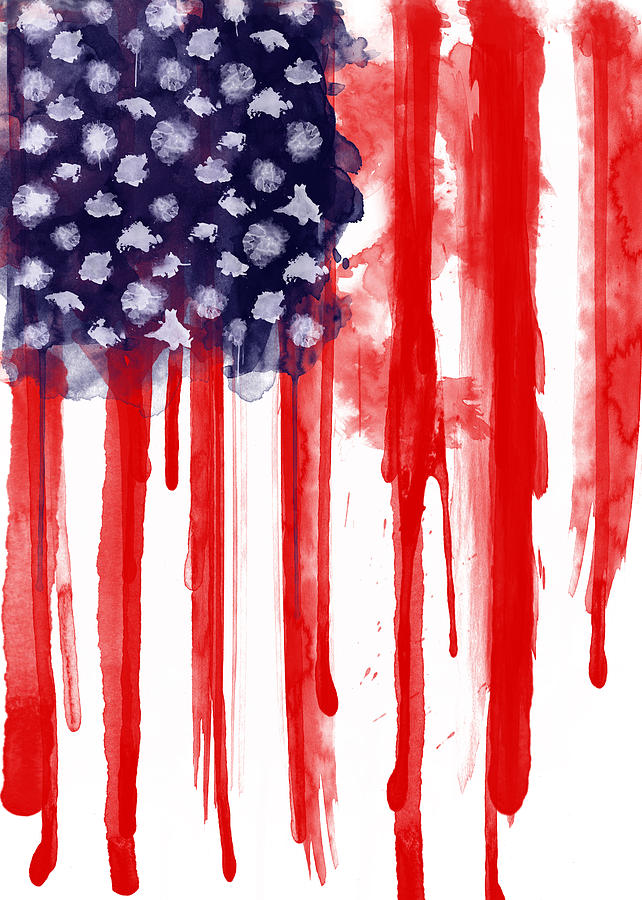 American Spatter Flag Painting By Nicklas Gustafsson