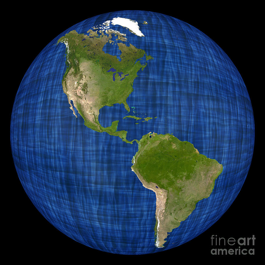 Hemispheres A World Of Fine Furnishings: Americas On A Globe The Western Hemisphere Photograph By