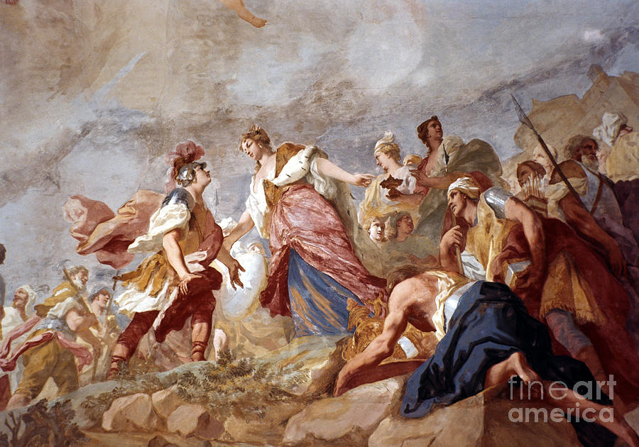18th Century Painting - Amigoni: Dido And Aeneas by Granger