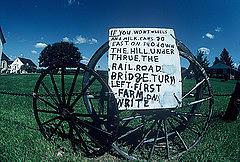 Amish Sign Photograph