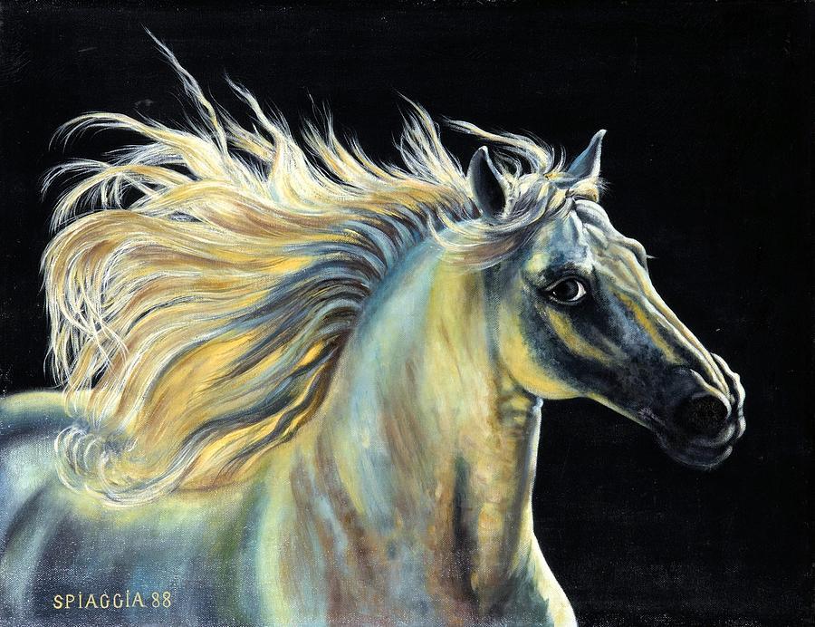 Horse Painting - Amour D Etalon by Josette SPIAGGIA