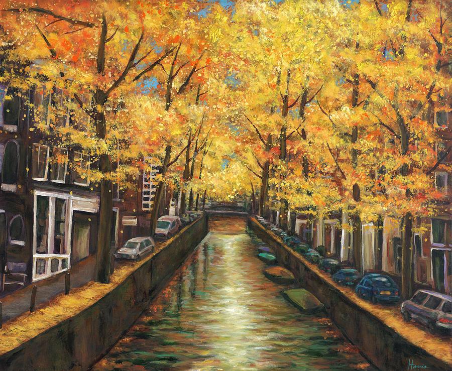 Amsterdam Painting - Amsterdam Autumn by Johnathan Harris