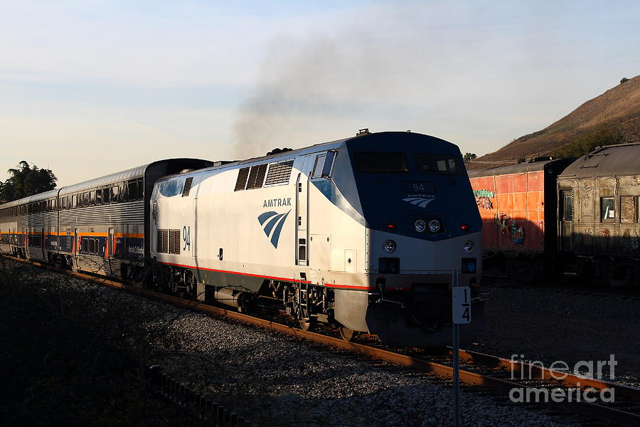 Amtrak Trains At The Niles Canyon Railway In Historic Niles District California . 7d10856 Photograph