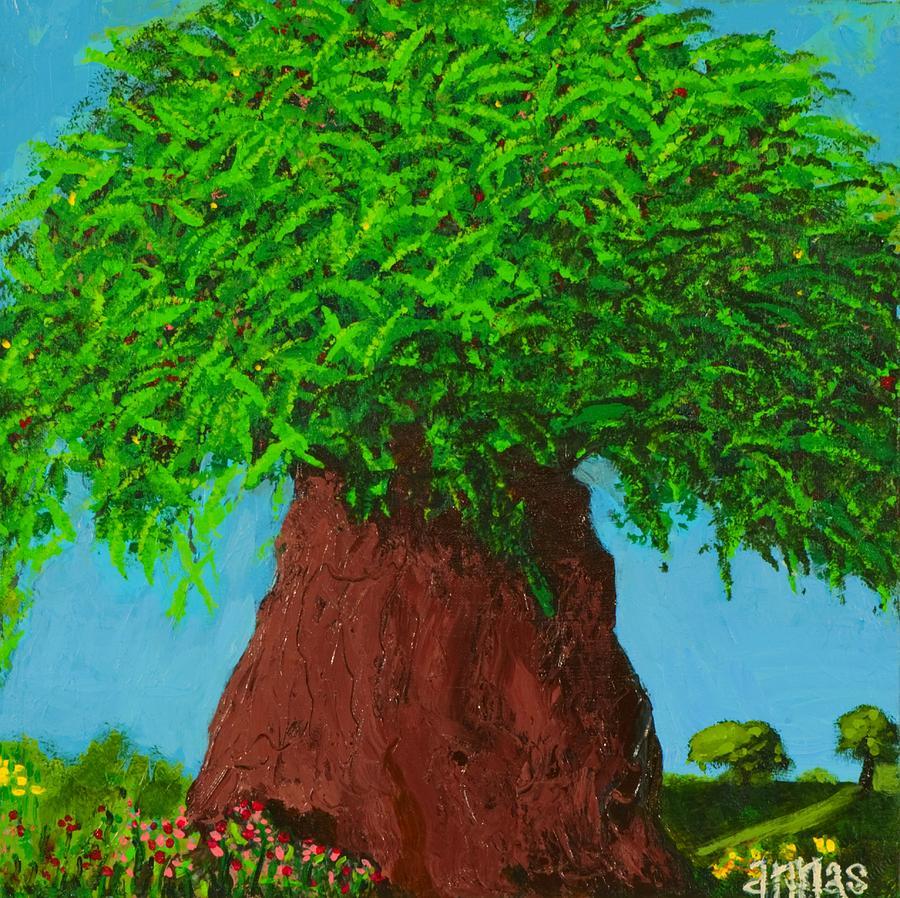 Tree Painting - Amys Tree by Angela Annas