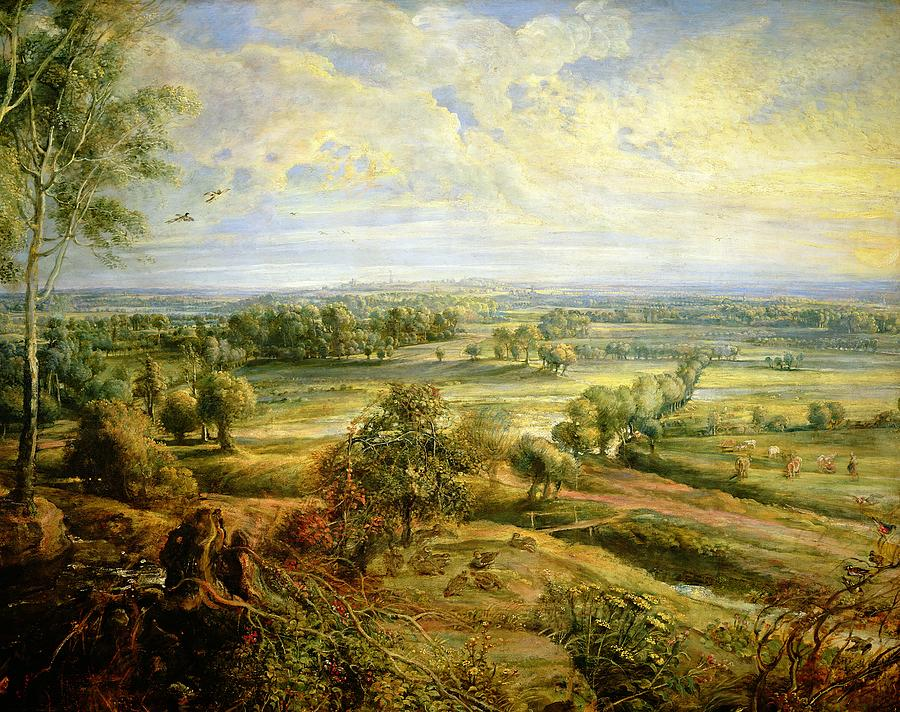 Autumn Painting - An Autumn Landscape With A View Of Het Steen In The Early Morning by Rubens
