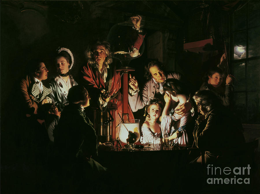 Wright Painting - An Experiment On A Bird In The Air Pump by Joseph Wright of Derby