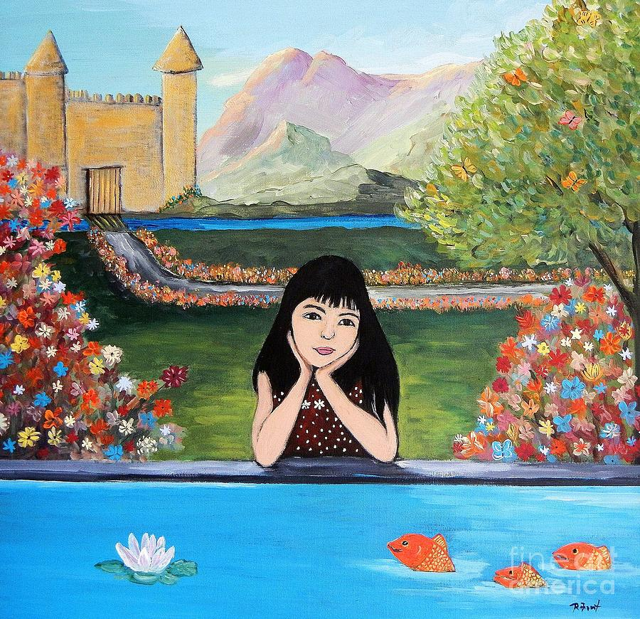 Children Painting - An Imaginative Mind by Reb Frost