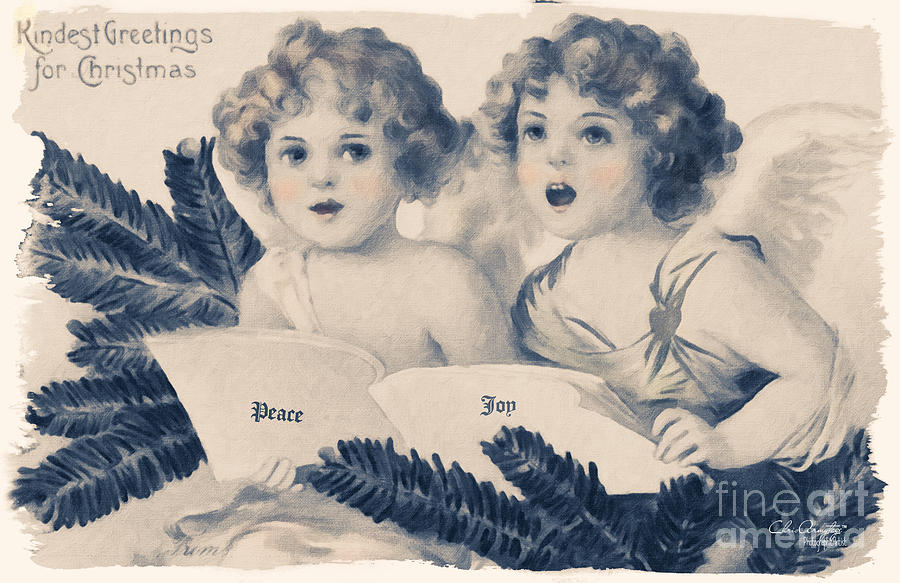 An Old Fashioned Christmas Greeting Painting