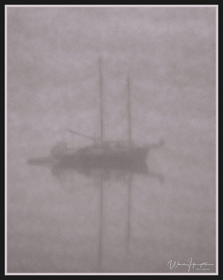 Anchored In Fog #2 Digital Art