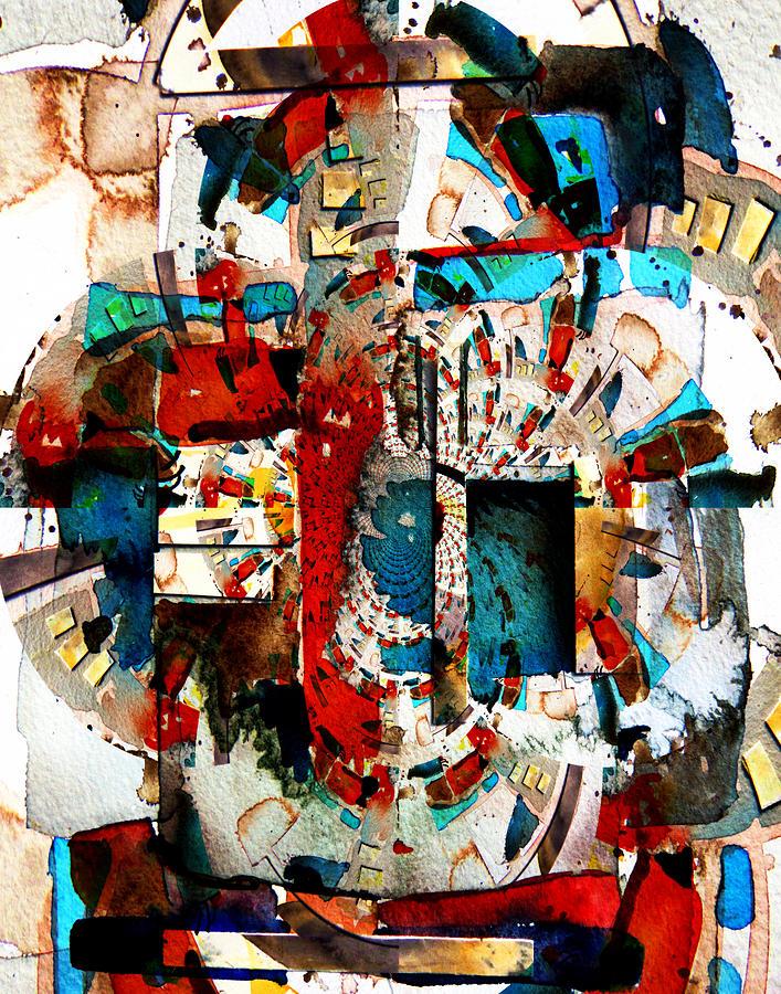 Abstract Digital Art - Ancient Corridors by Mindy Newman