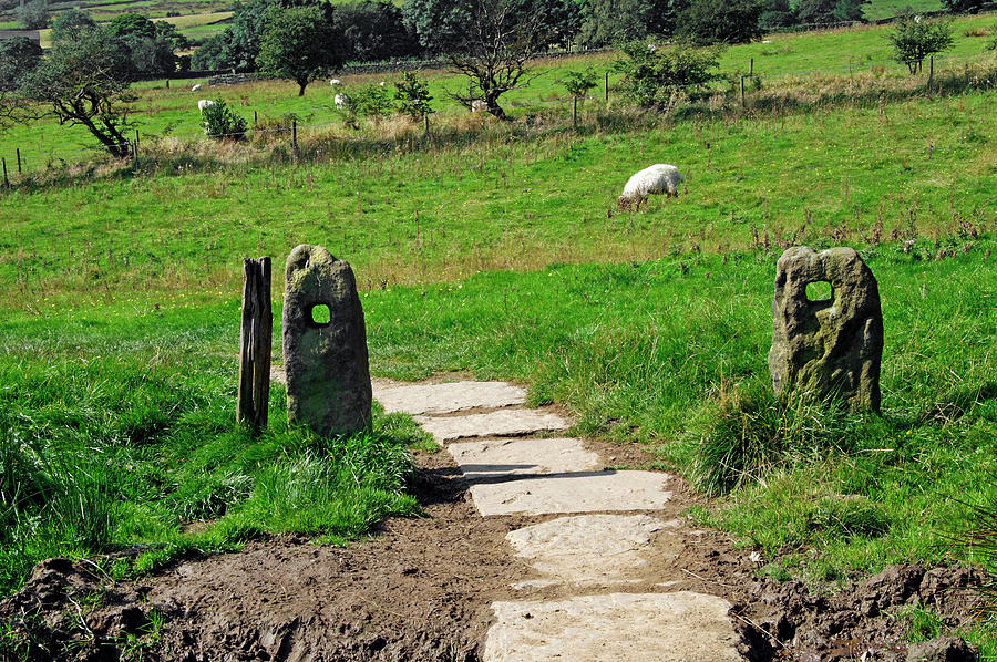 Ancient Stone Gate Posts - Upper Booth Photograph