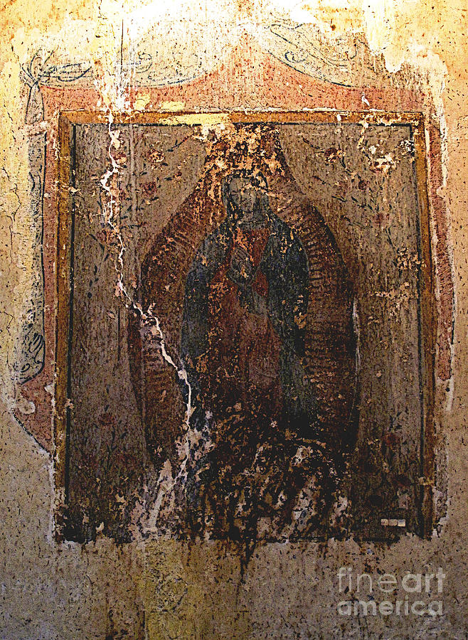 Olden Mexico Photograph - Ancient Virgin Of Guadalupe - Ex-convento Yuriria by Mexicolors Art Photography