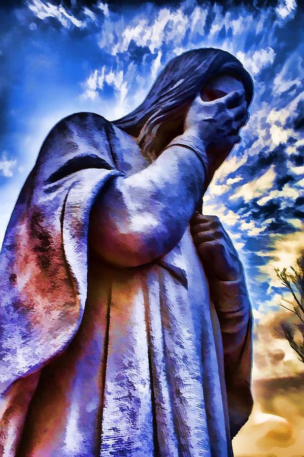 Jesus Photograph - And Jesus Wept by Ricky Barnard