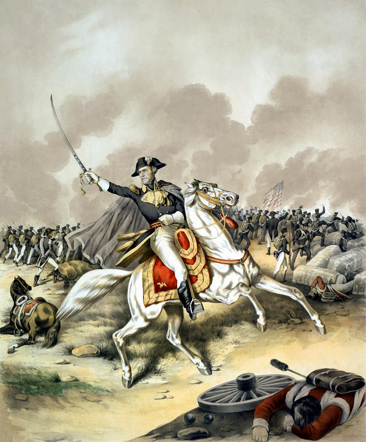 Andrew Jackson Painting - Andrew Jackson At The Battle Of New Orleans by War Is Hell Store