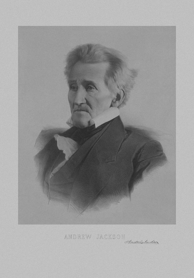 President Jackson Drawing - Andrew Jackson by War Is Hell Store