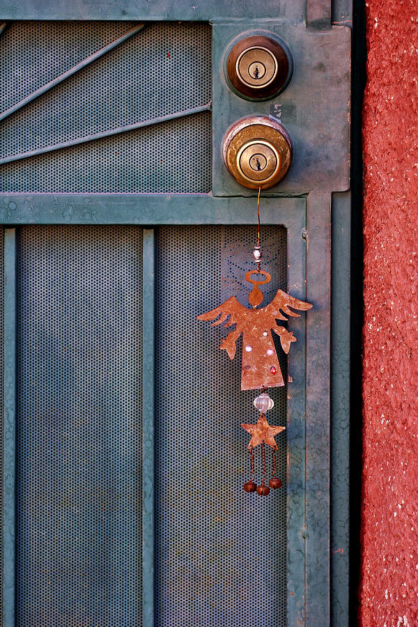 Angel Photograph - Angel At The Door by Carol Leigh