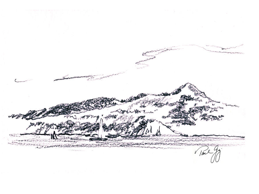 Angel Island From Sausalito Painting