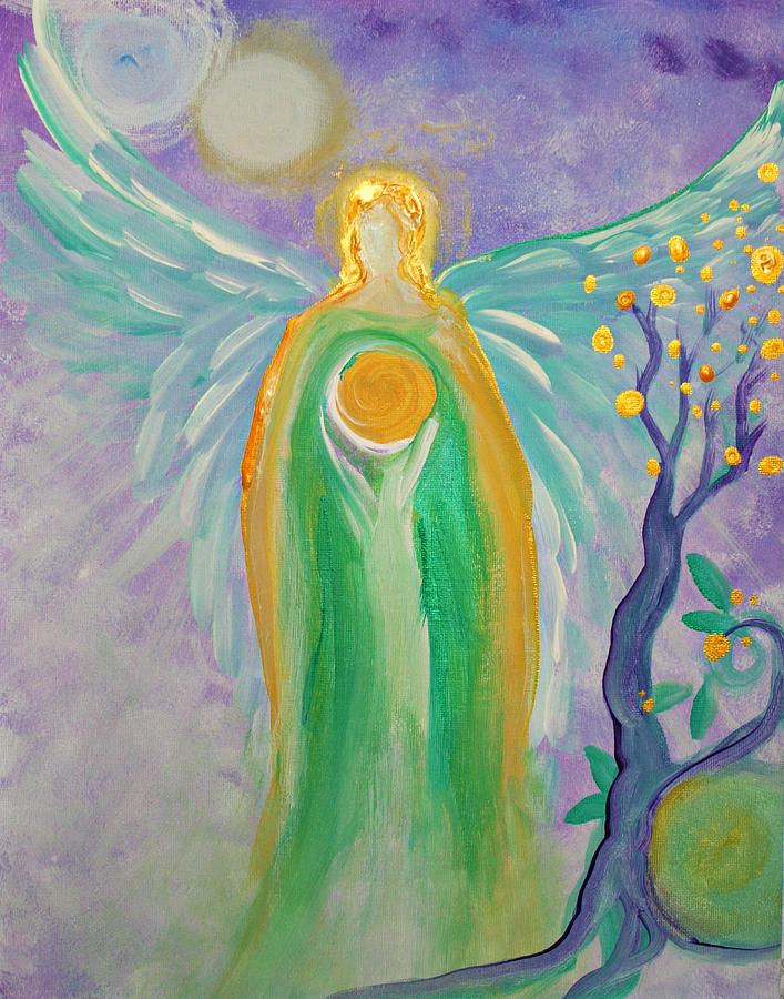 Angel Painting - Angel Of Acceptance by Alma Yamazaki
