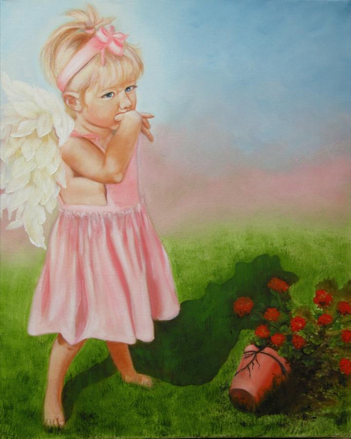 Angel Painting - Angel Thumbs by Joni McPherson