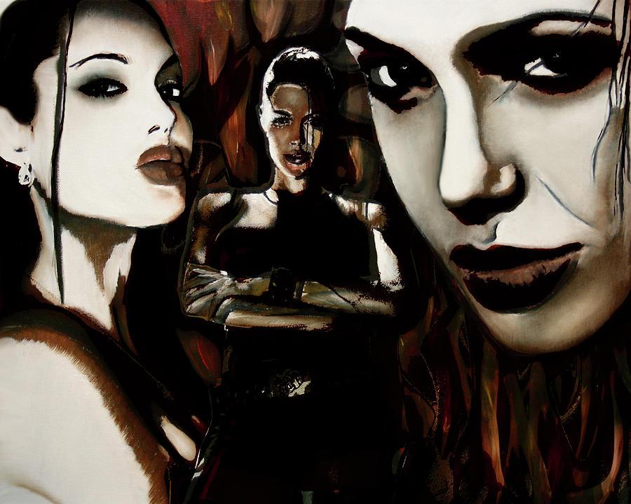 Angelina Jolie Mixed Media - Angelina Jolie by Sarah Whitscell