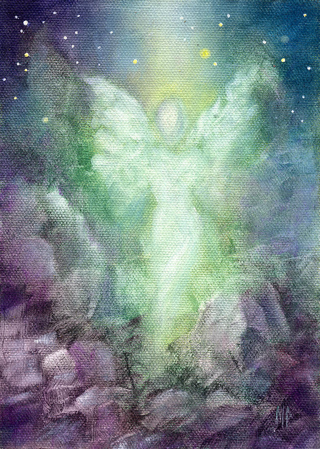 Angel Painting - Angels Journey by Marina Petro