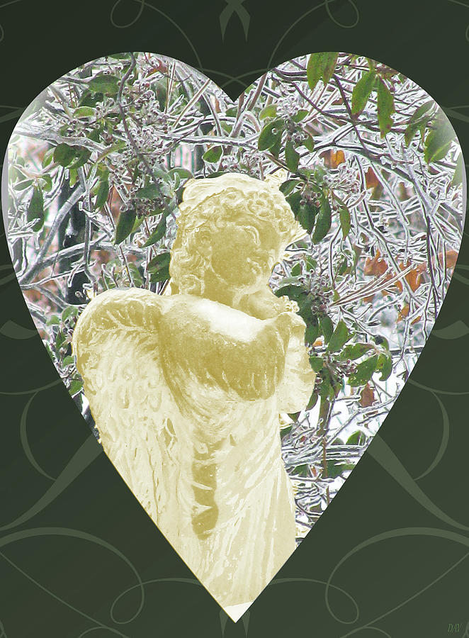 Gold Angel Of The Snow C Photograph - Angels Of The Snow  C by Debra     Vatalaro