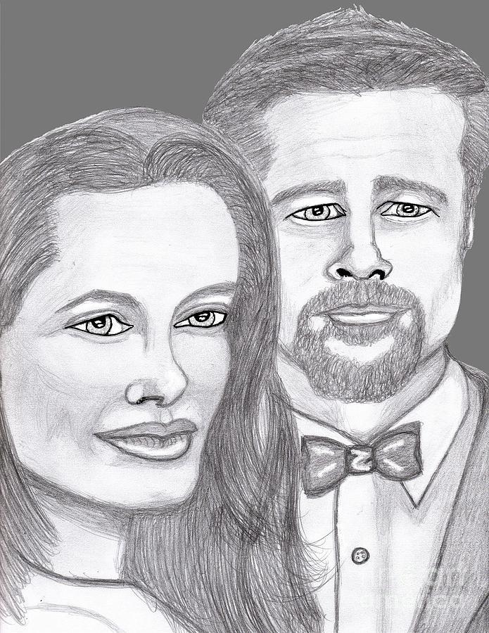 Stars Painting - Angie And Brad by Richard Heyman