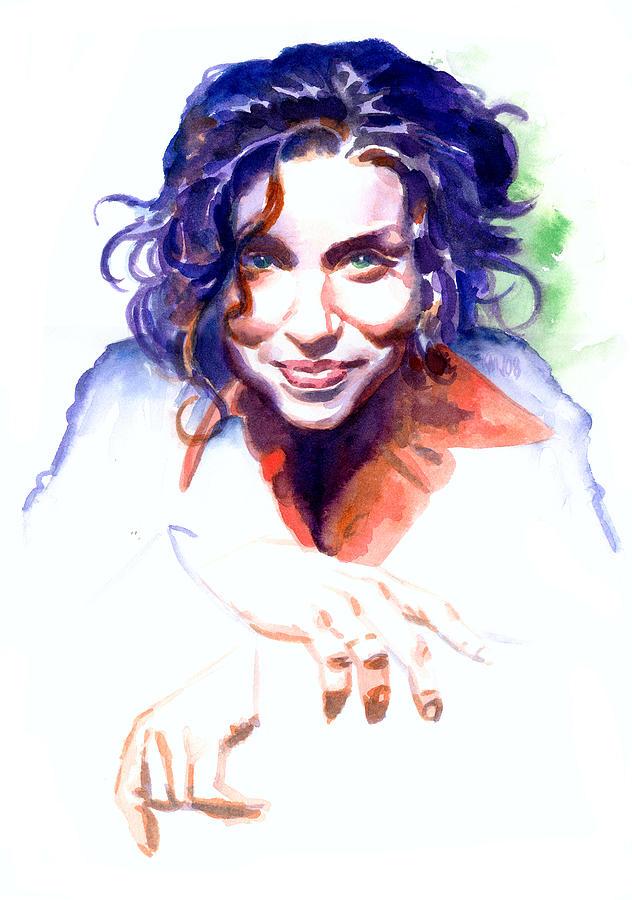 Ani Difranco Painting - Ani Difranco by Ken Meyer jr