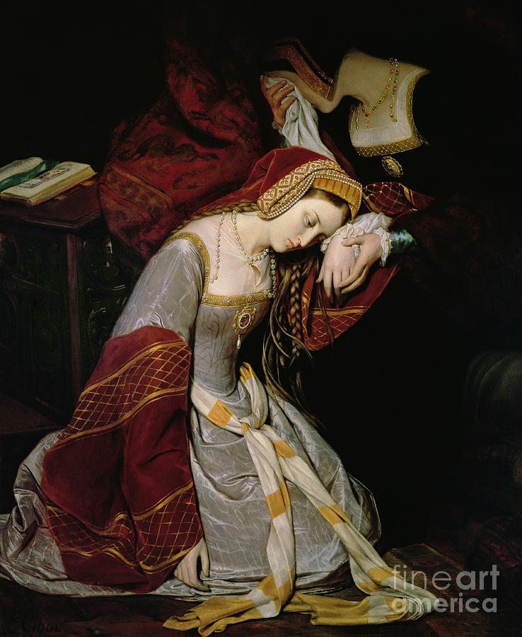 Anne Painting - Anne Boleyn In The Tower by Edouard Cibot