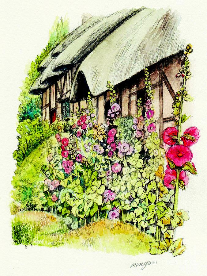 Anne Painting - Anne Hathaway Cottage by Morgan Fitzsimons