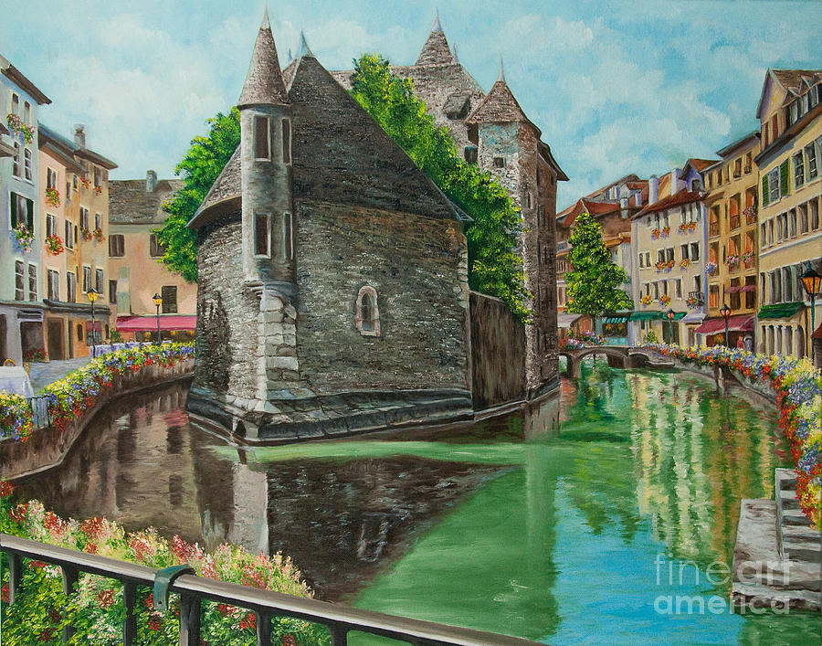 Annecy France Art Painting - Annecy-the Venice Of France by Charlotte Blanchard