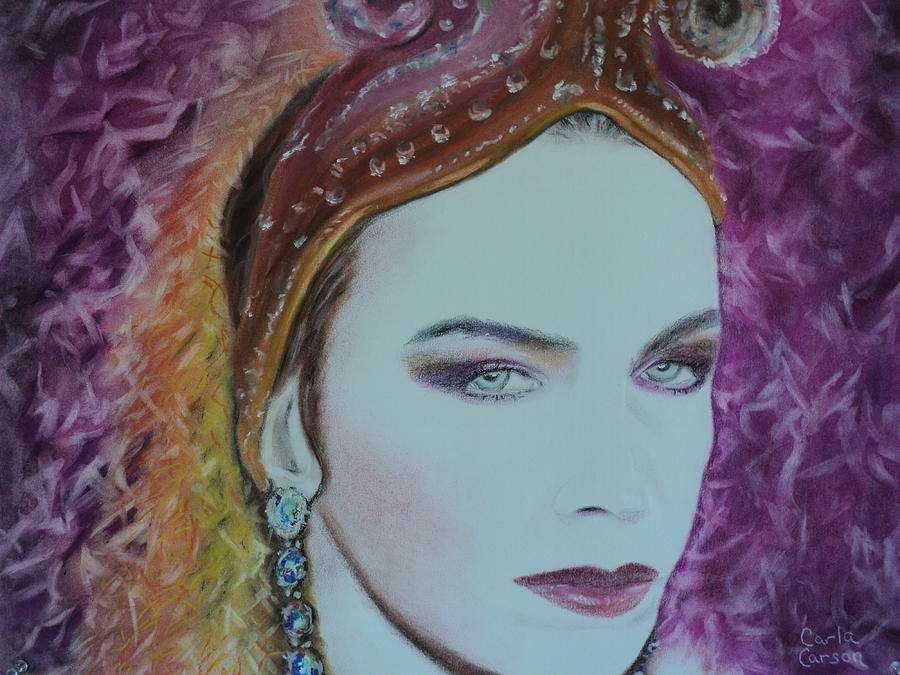 Pastel Pastel - Annie Lennox Of The Eurythmics Whiter Shade Of Pale by Carla Carson