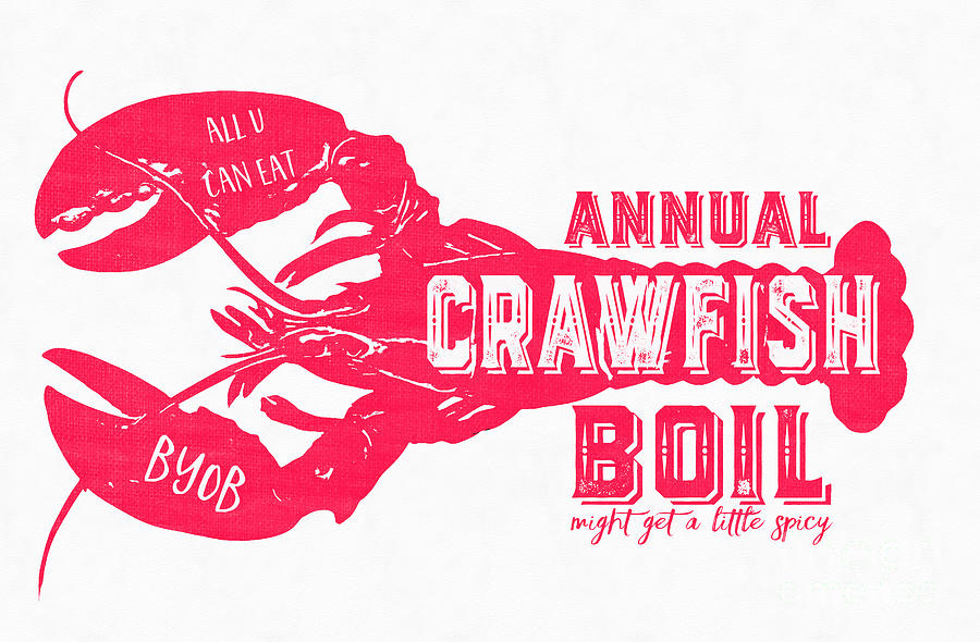 Annual Crawfish Boil Poster Drawing by Edward Fielding